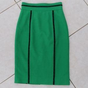 L'wren Scott Kelly green pencil midi skirt lace xs